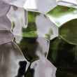 Glass abstract - background in green and white. — Stock Photo