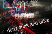 пить за рулем — Стоковое фото