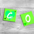 Eco in green - sign for the environment — Stock Photo