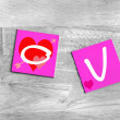 Love - sign for lovers and valentines — Stok fotoğraf