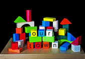 Our Town - PR, advertising, banner for towns. — Foto de Stock