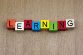 Learning - letters and writing, for education, business. — Stock Photo