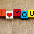 I Love You - sign for relationships and romance — Stock Photo #32259169