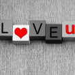 I Love You - sign for relationships and romance — Stock Photo #32260679