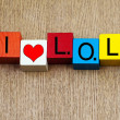 I Love LOL - sign — Stock Photo