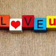 I Love You - sign for relationships and romance — Stock Photo #32262015