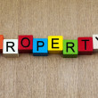 Property - business & real estate sign — Stock Photo