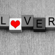 Lover - sign for relationships and romance — Lizenzfreies Foto