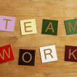 Team Work - business sign — Stock Photo