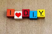 I Love DIY - sign — Stock Photo