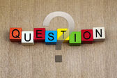 Question - education & business sign — Stock Photo