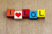 Ik hou van lol - teken — Stockfoto