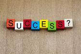 Segno di successo - lavoro o educazione — Foto Stock