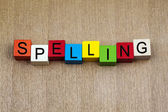 Spelling - education sign — Stock Photo