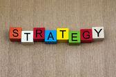 Estrategia - rótulo — Foto de Stock