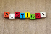 Auction - business sign — Stock Photo