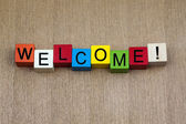 Welcome - sign — Stock Photo