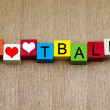 Football - sign — Stock Photo