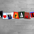 I Love Drama sign - art design — Foto de Stock