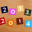 2013 ... 2014  -  sign for a Happy New Year — Stock Photo