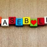 I Love Baseball - sport sign — Stock Photo