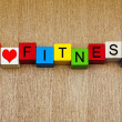 Fitness - I love fitness - for exercise, sports and keeping fit — Stock Photo
