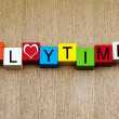 Playtime - sign for education, fun, holidays and vacations — Stock Photo #33589833