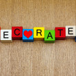 Love to Decorate - home improvement, decorating, design and inte — Stock Photo