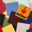 I Love Holidays - sign for holiday and vacation — Stock Photo #33895721