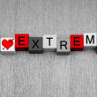 I Love Extreme - sign for sex, relationships, love... — Stock Photo #33896613