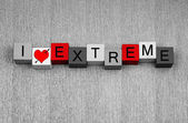 I Love Extreme - sign for sex, relationships, love... — Stock Photo
