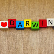 Stock Photo: I Love Darwin, Australi- sign series for travel and holidays