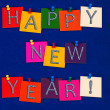 Happy New Year ! Sign for New Years Eve Celebrations — Stock Photo
