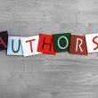 Authors as sign for education, libraries, book clubs and novel — Stock Photo #37222029