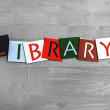 Library as a sign for education, libraries and books — Stock Photo