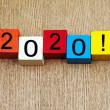 Stock Photo: 2020 - sign for new year