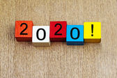 2020 - sign for the new year — Stock Photo