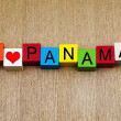 Stock Photo: I Love Panam- sign series for travel destinations and holidays