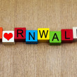 I Love Cornwall, sign series for culture, travel and holidays — Stock Photo #37632259