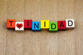 I Love Trinidad - sign series for island resorts, travel and hol — Stockfoto