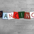 Dancing, sign series for music, dance, the arts and culture — Stock Photo