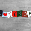 I Love Tenor, sign series for singing, choirs, music — Stock Photo #38554283
