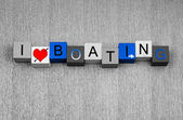 I Love Boating, sign for boats, motorboats, sailing and yachts — Stock Photo