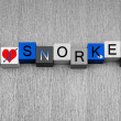 Stock Photo: I Love To Snorkel, sign series for snorkelling and spearfishing
