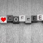 I Love Coffee. Mocha, espresso, cappuccino? For coffee lovers ev — ストック写真