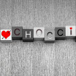 I Love for Choccie. Sign for chocolate lovers everywhere! — Stock Photo #39555417