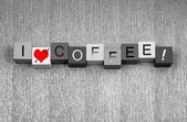 I Love Coffee. Mocha, espresso, cappuccino? For coffee lovers ev — Stock Photo