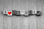 I Love Cookies. Sign for biscuits and cookie lovers everywhere! — Stockfoto