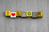 I Love Lager, sign series for alcohol, beer and liquor. — Photo