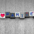 I Love Parties, sign series for drinks, celebration and party. — Stock Photo #39798117